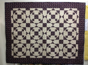 Quilted with Paisley design; see enlargement for detail
