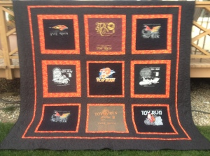 Toy Run T-Shirt quilt Silent Auction Fundraiser